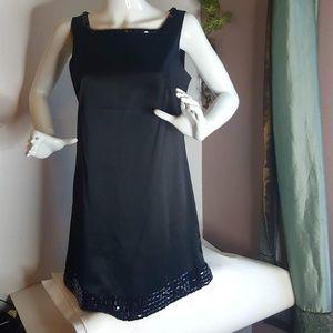 🍬Forever 21 Black Beaded Slip Dress size M
